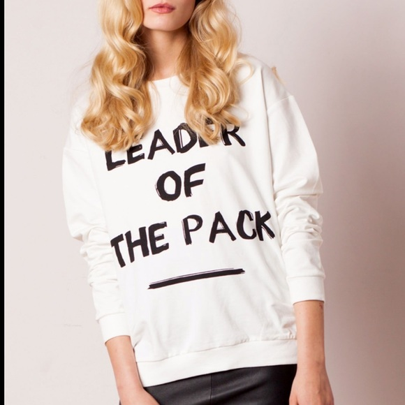 NWT MINKPINK 'Leader of the Pack' jumper, white